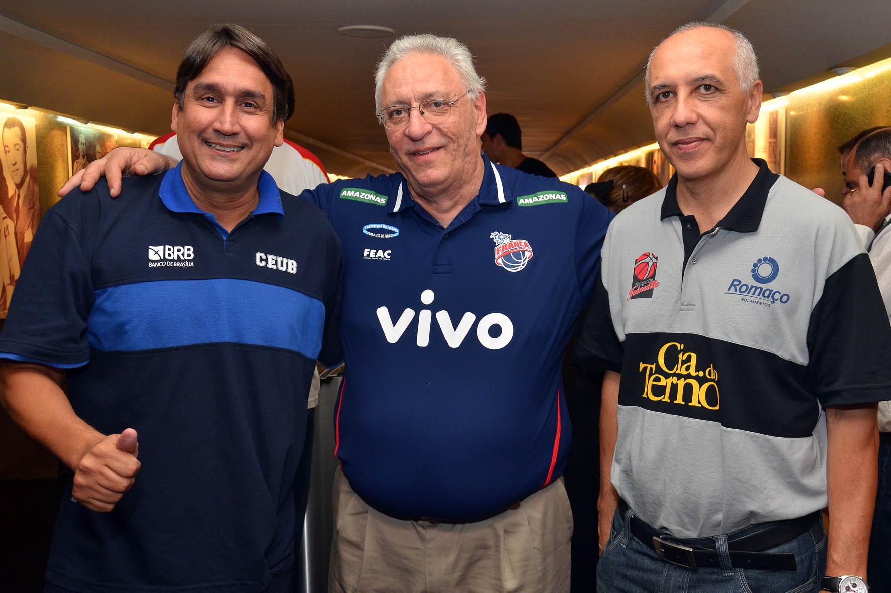 José Vidal (Brasília), Lula Ferreira (Franca) e Ênio Vecchi (Joinville)