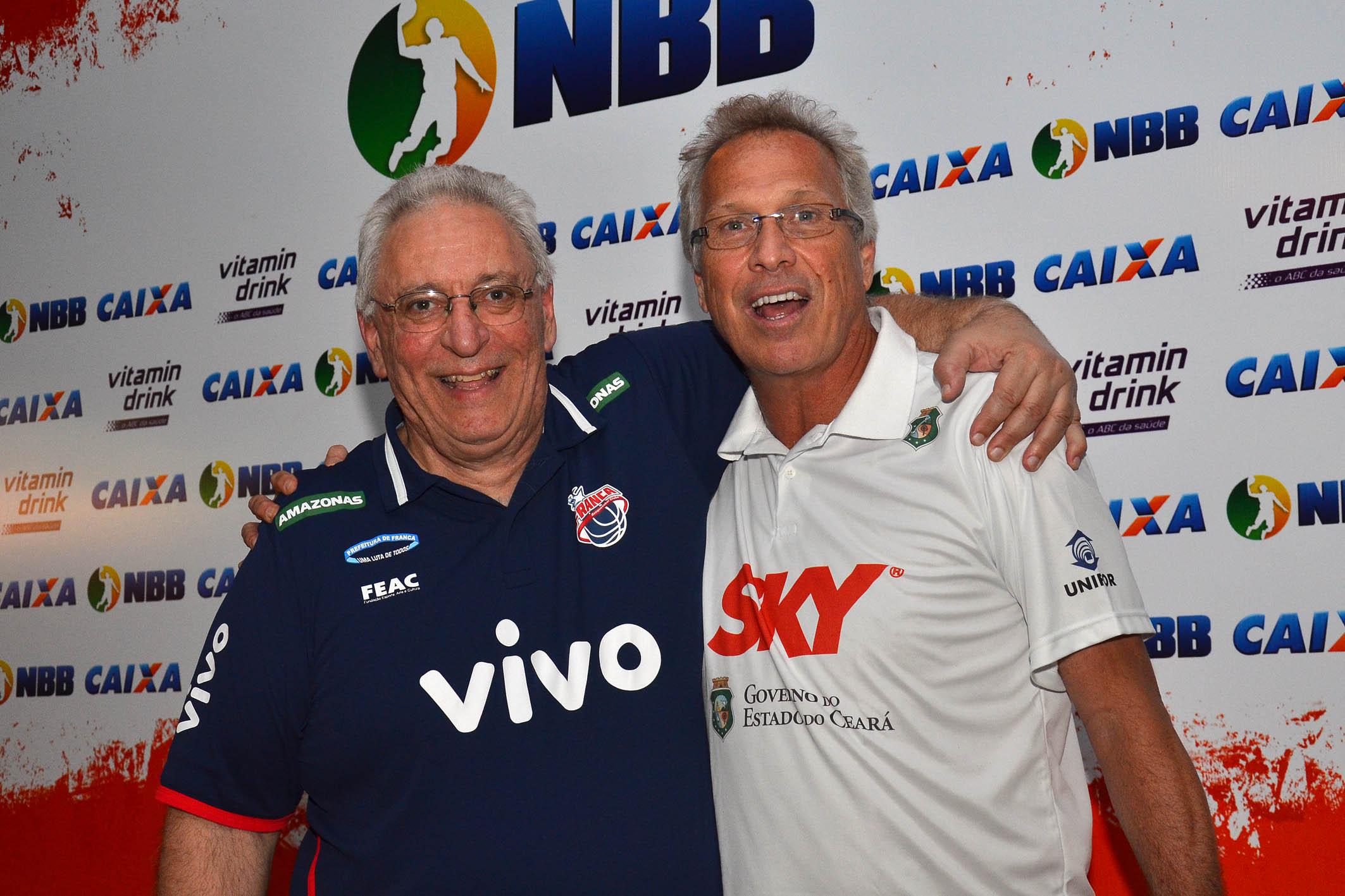 Lula Ferreira (Franca) e Alberto Bial (Basquete Cearense)
