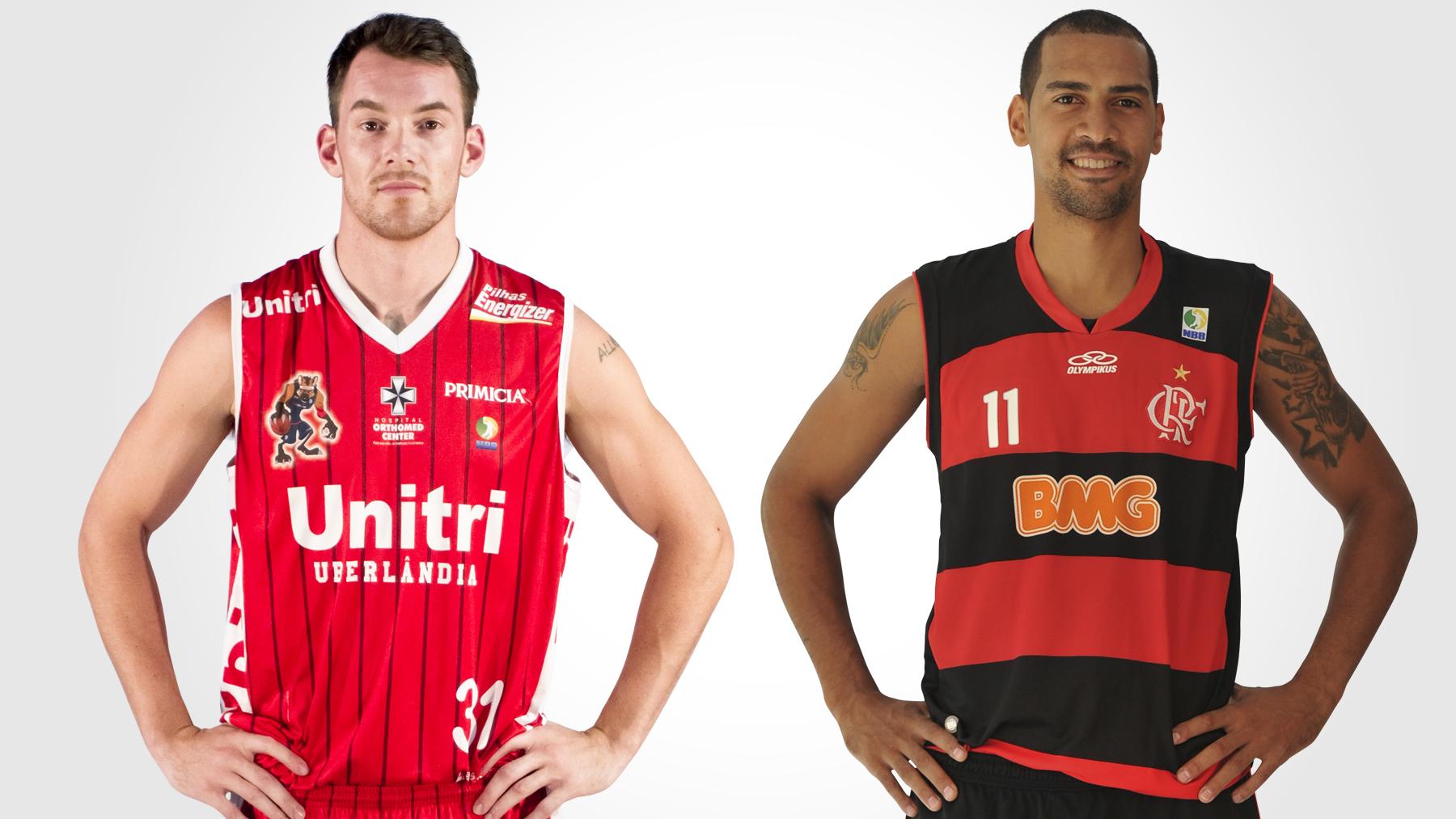 Robert Day e Marquinhos são os principais jogadores de Uberlândia e Flamengo (Montagem/LNB)