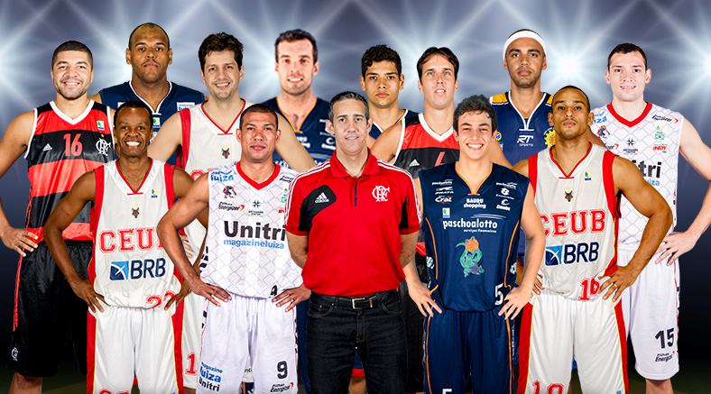 Novamente sob o comando de José Neto, equipe brasileira contará com atletas de seis equipes diferentes  do NBB para este ano (Arte/LNB)