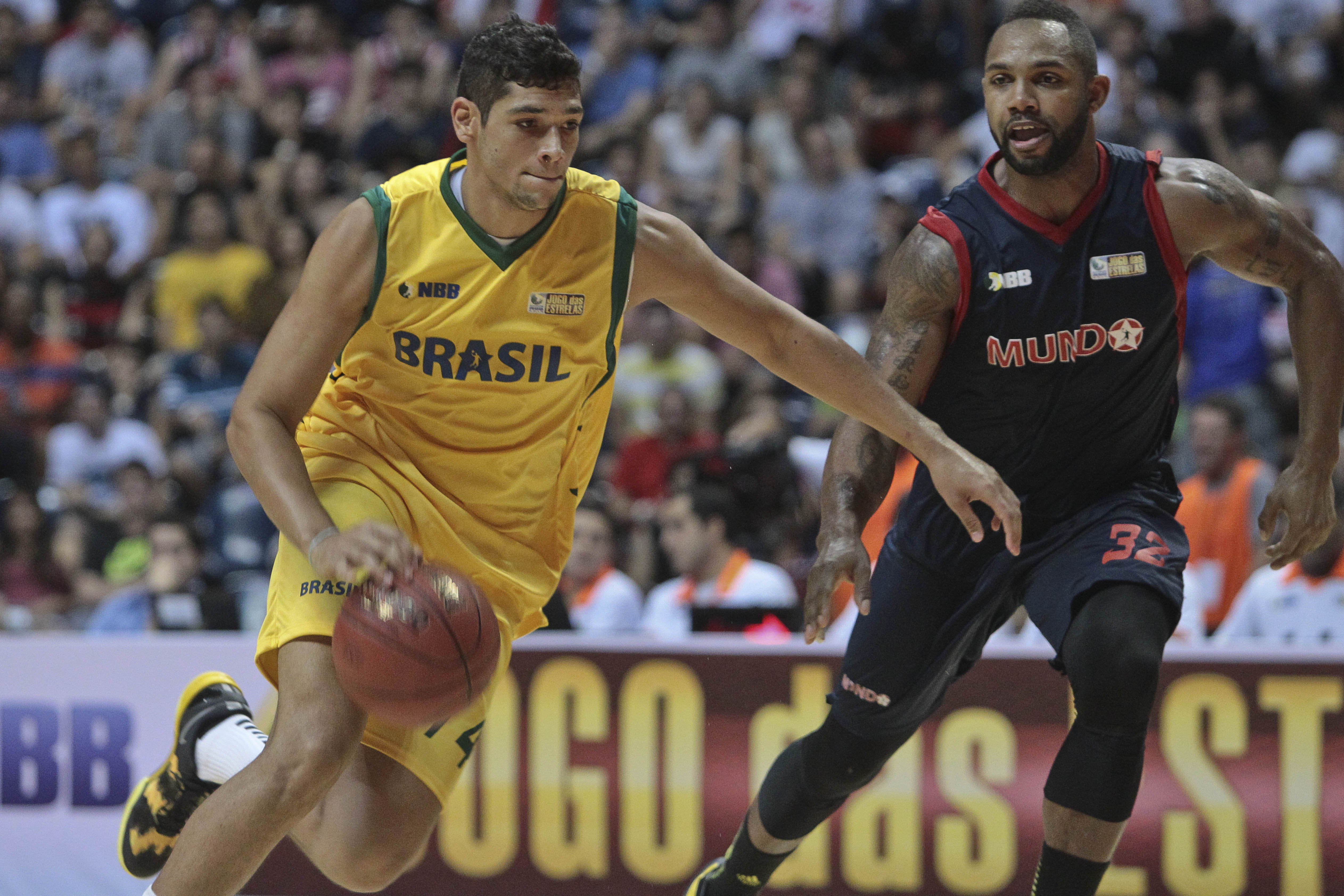 Léo Meindl, do NBB Brasil, e David Jackson, do NBB Mundo