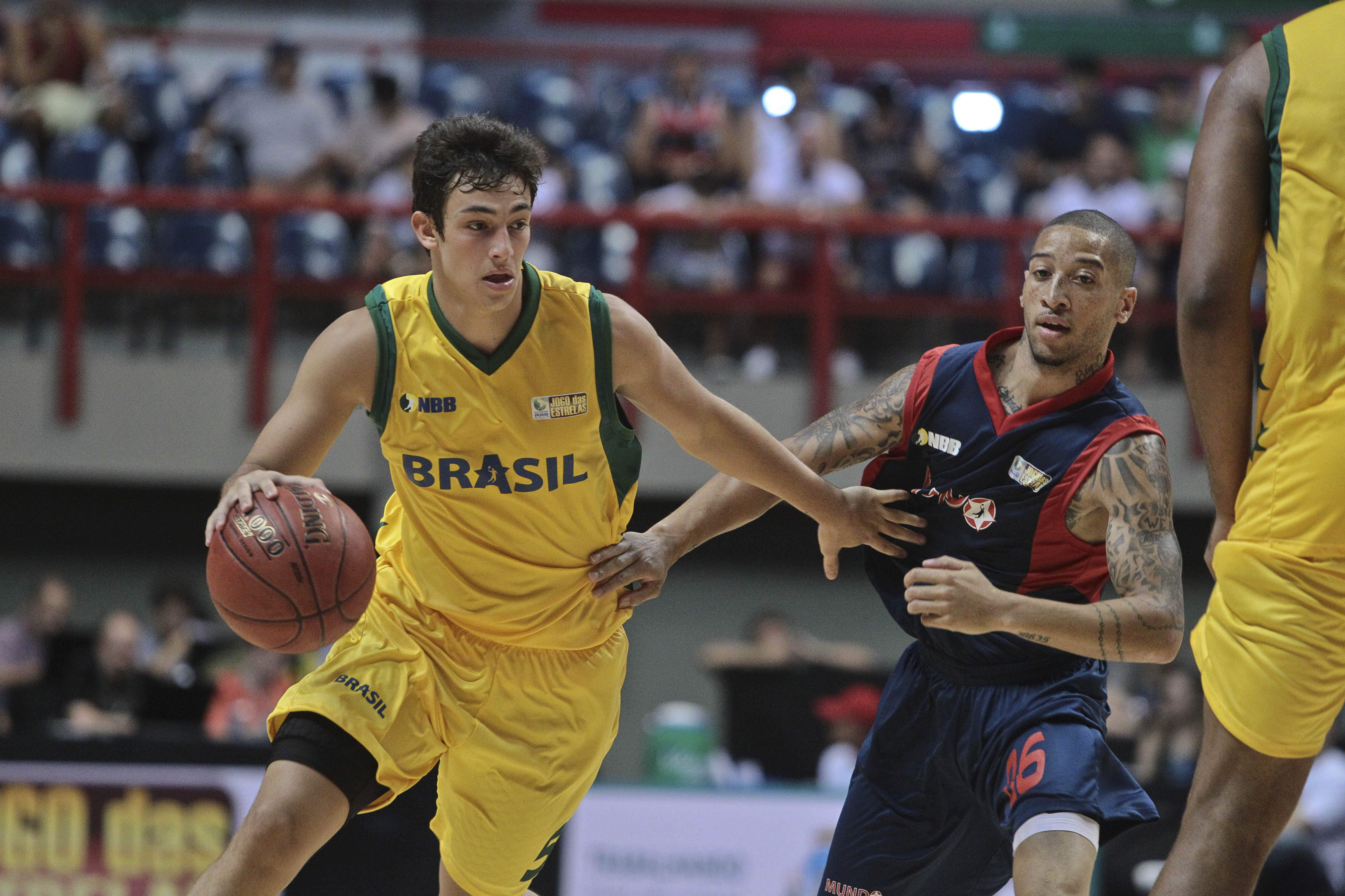 Ricardo Fischer, do NBB Brasil, e Kenny Dawkins, do NBB Mundo