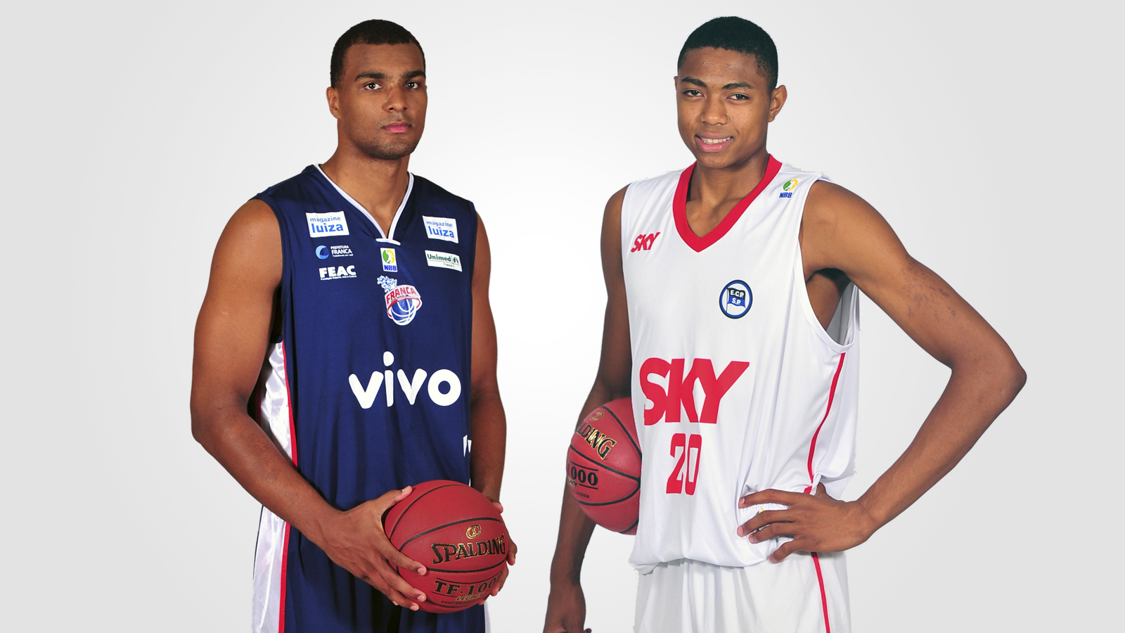 Inscritos no Draft 2014, Lucas (à esq.) e Bruno (à dir.) podem ingressar na NBA (Arte/LNB)