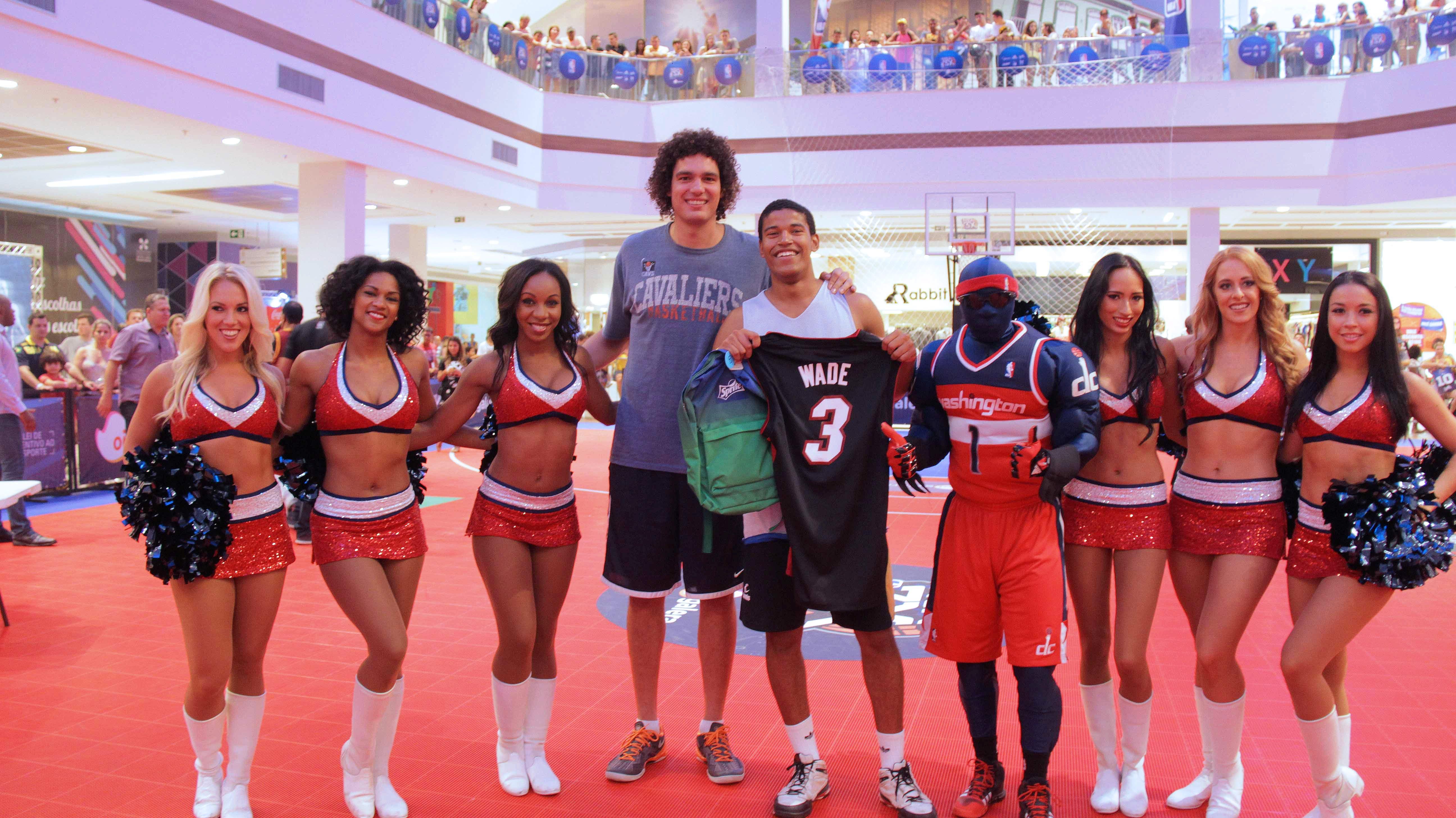 Anderson Varejão foi o anfitrião do NBA 3X em Cariacica (ES) (TGF/Divulgação)