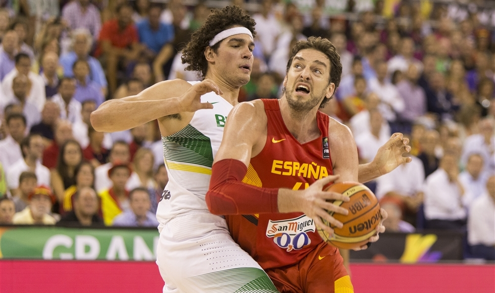 Pau Gasol foi o grande destaque individual da vitória espanhola sobre o Brasil (FIBA/Divulgação)