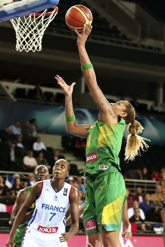 Érika de Souza foi a cestinha do Brasil no Mundial, com média de 10,8 pontos por partida (FIBA/Divulgação)