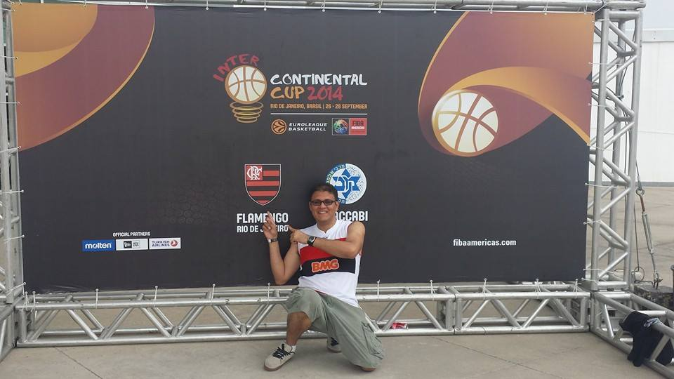 José Carlos na HSBC Arena para a decisão da Copa Intercontinental entre Flamengo e Maccabi Tel-Aviv (Foto: Facebook do José Carlos Ferreira)