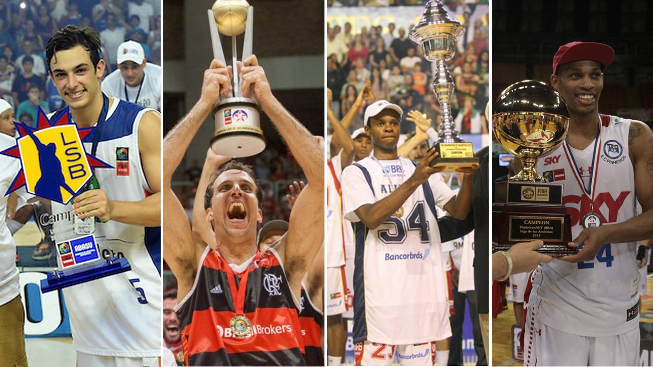 Com título do Bauru, basquete brasileiro foi campeão dos quatro últimos campeonatos continentais realizados (Montagem/LNB)