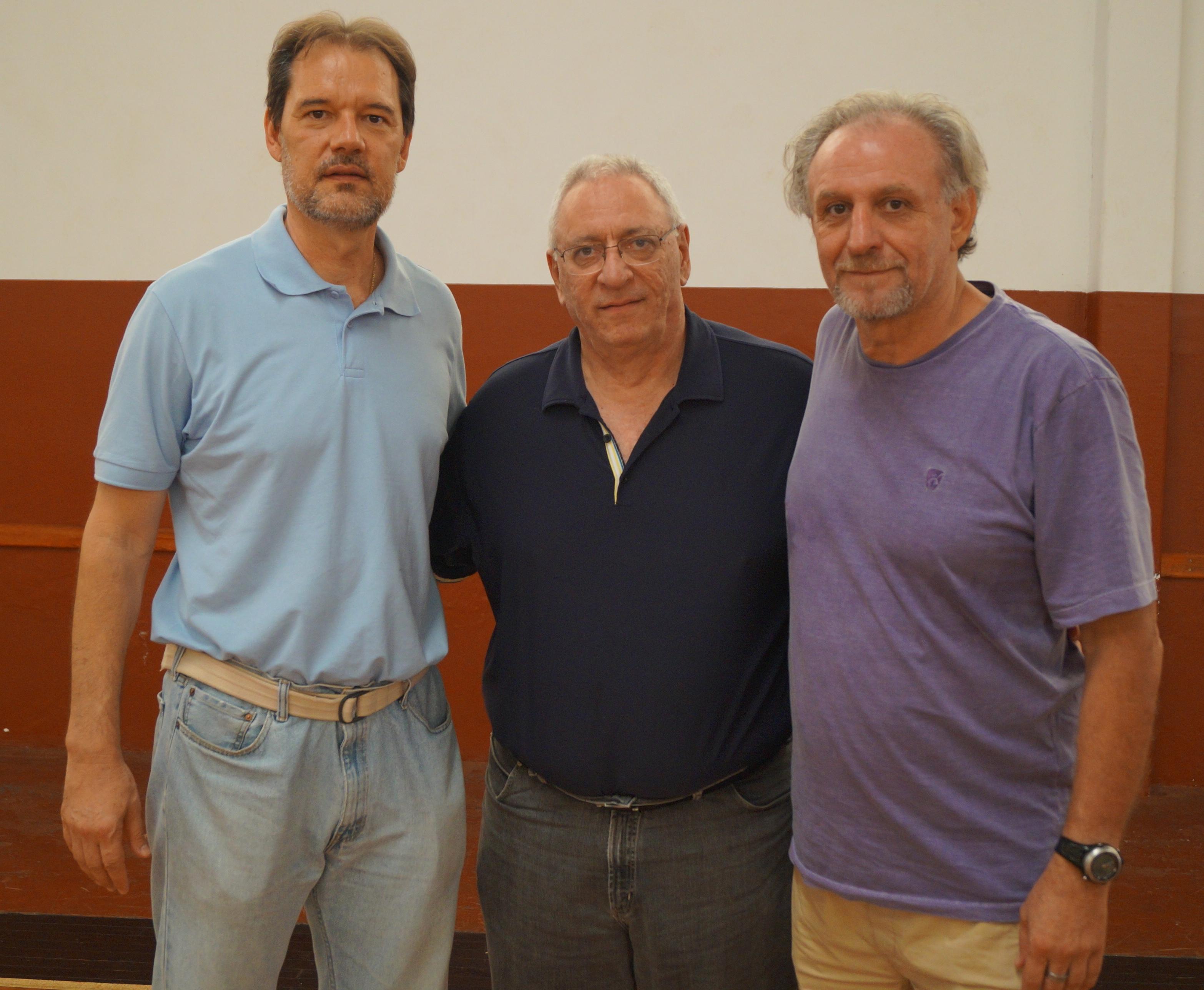 Chuí, Lula e Carlão formam o corpo diretivo da associação (Divulgação)