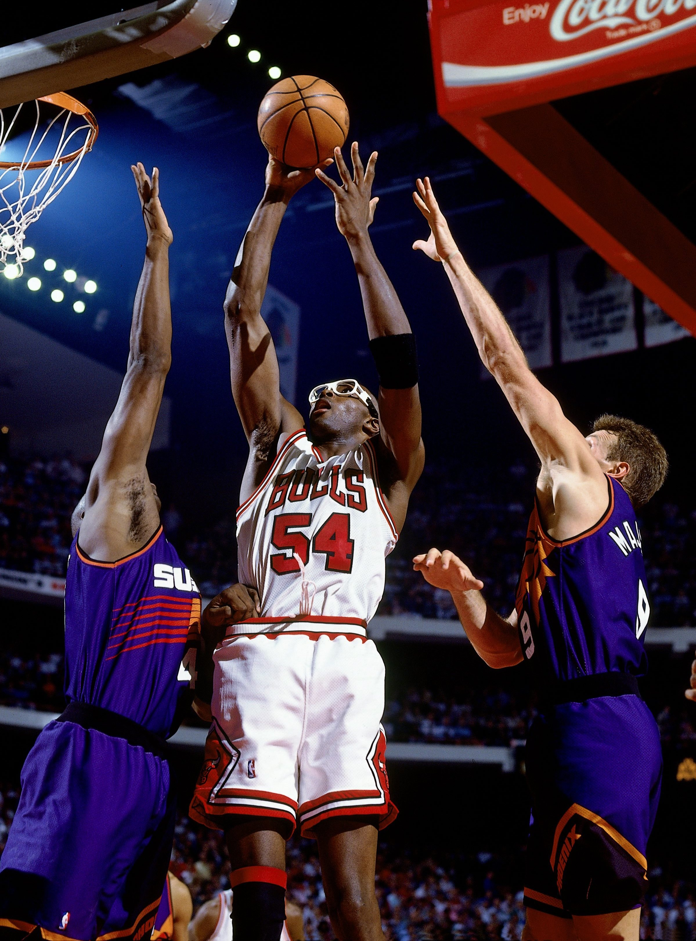 Atuando com a camisa do Chicago Bulls, Horace Grant venceu três títulos da NBA Getty Image)