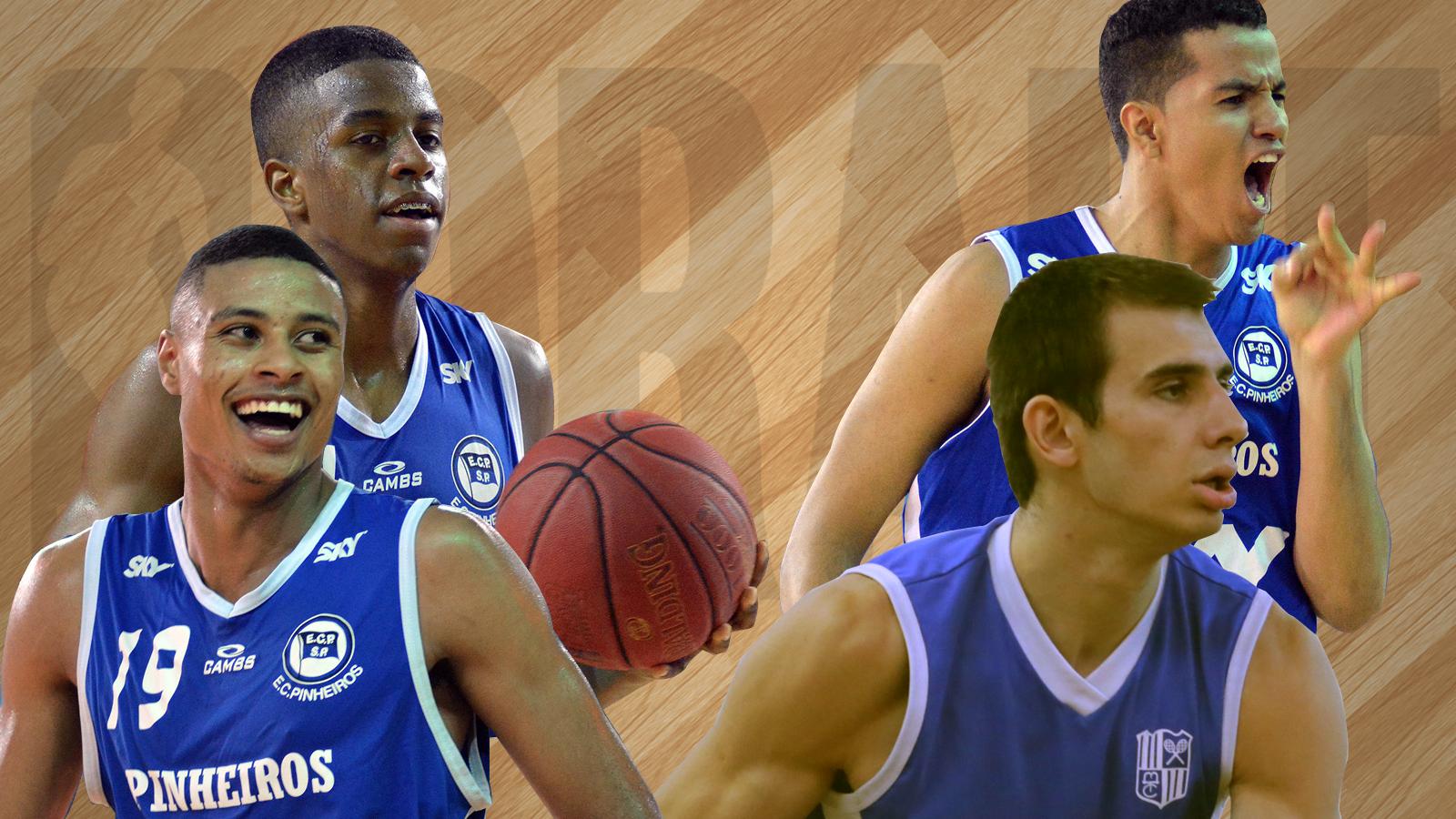 Georginho, Lucas Dias, Humberto e Danilo Siqueira representarão o Brasil no próximo Draft da NBA (Montagem/LNB)