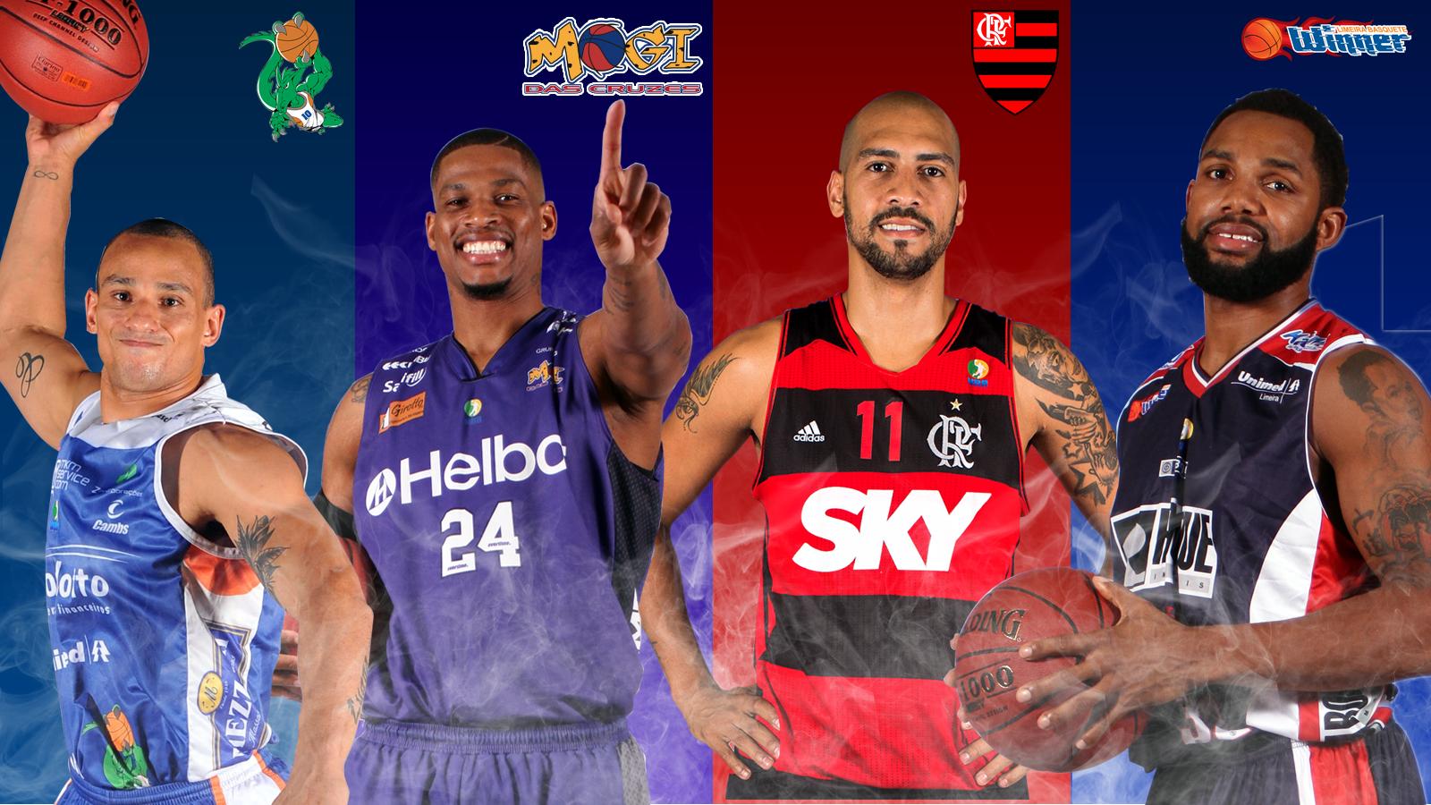 Bauru, Mogi, Flamengo e Limeira formaram o G-4 da fase de classificação e disputa pela vaga na Final promete pegar fogo (Arte/LNB)