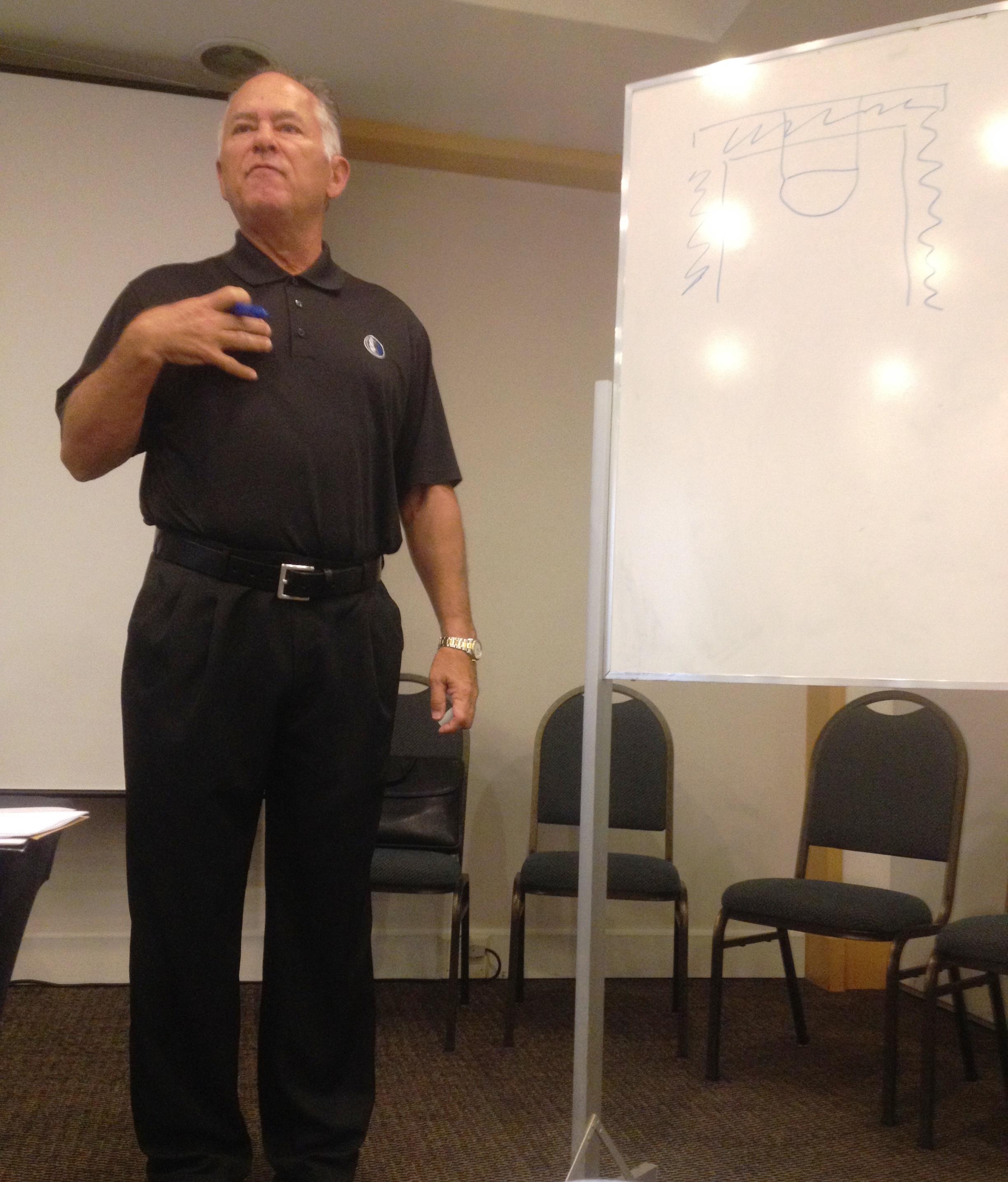 Ex-Celtics, 76ers e Pacers, Jim O'Brien ministrou palestras aos técnicos e assistentes (Divulgação/LNB)