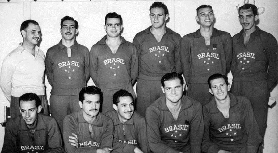 Seleção Brasileira que disputou os Jogos Olímpicos de Londres, em 1948.