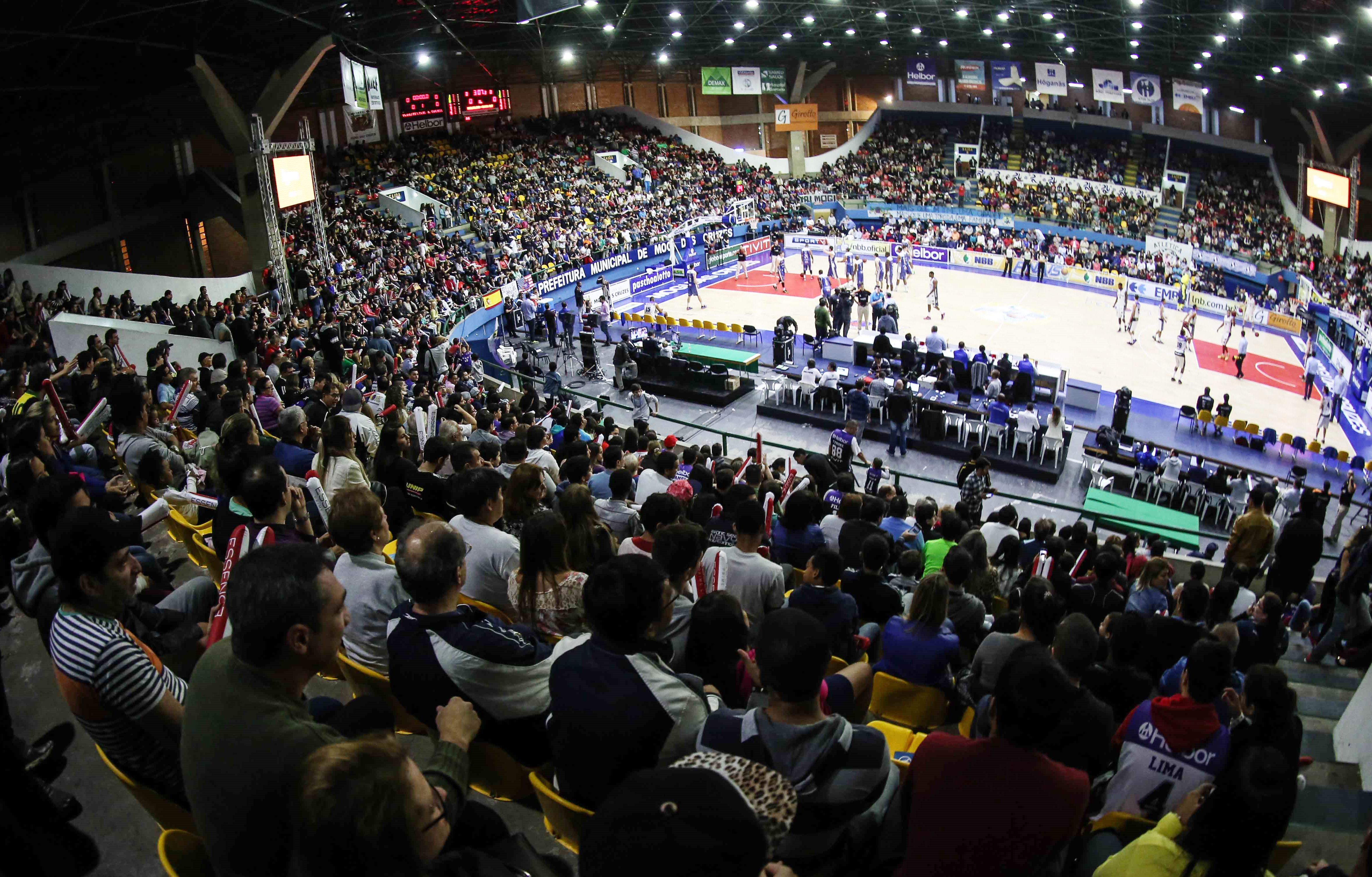 Ginásio Hugo Ramos teve a melhor média de público das duas últimas temporadas do NBB (FIBA Américas/Divulgação)
