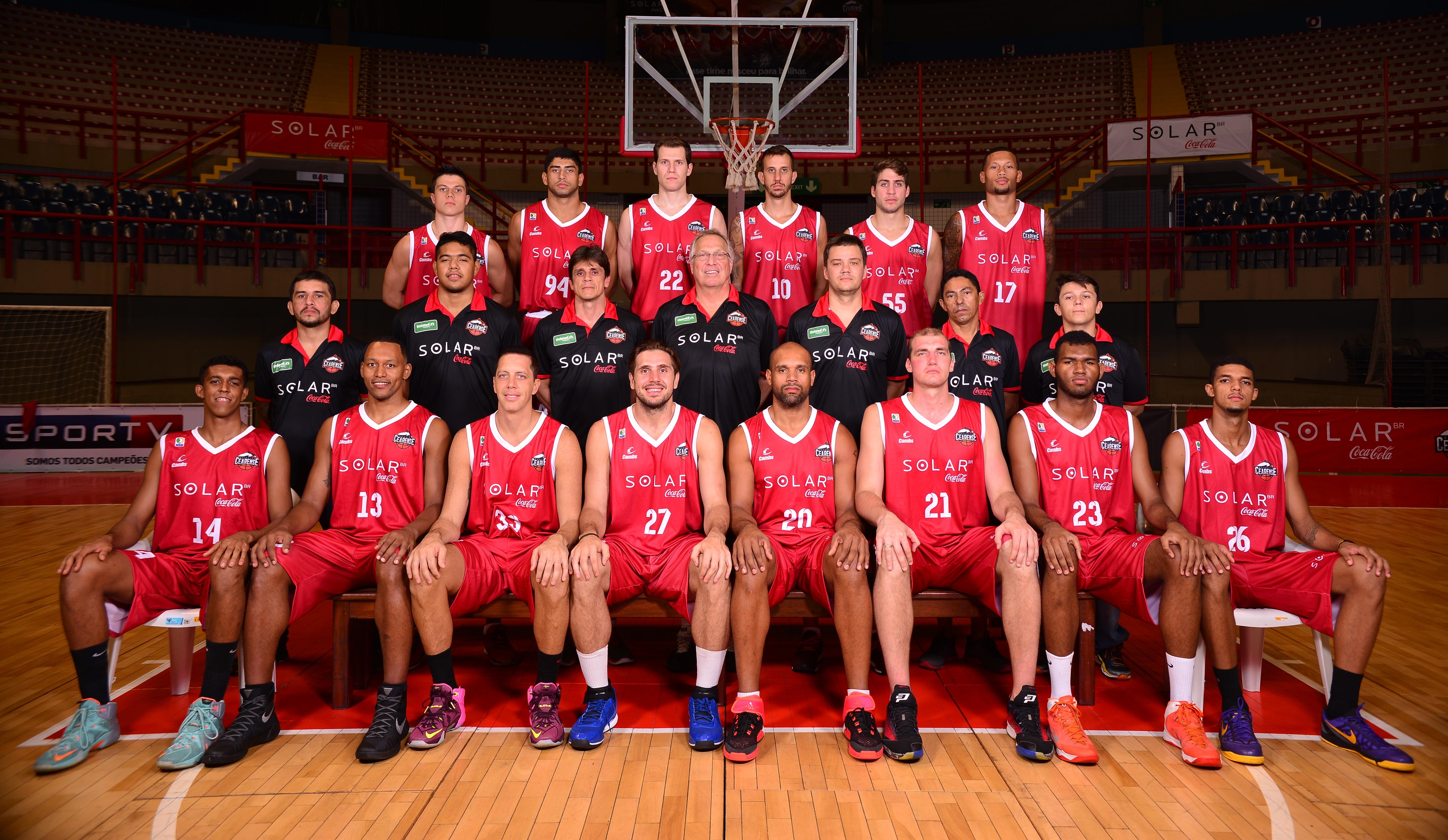 Equipe do Basquete Cearense para a temporada 2015/2016