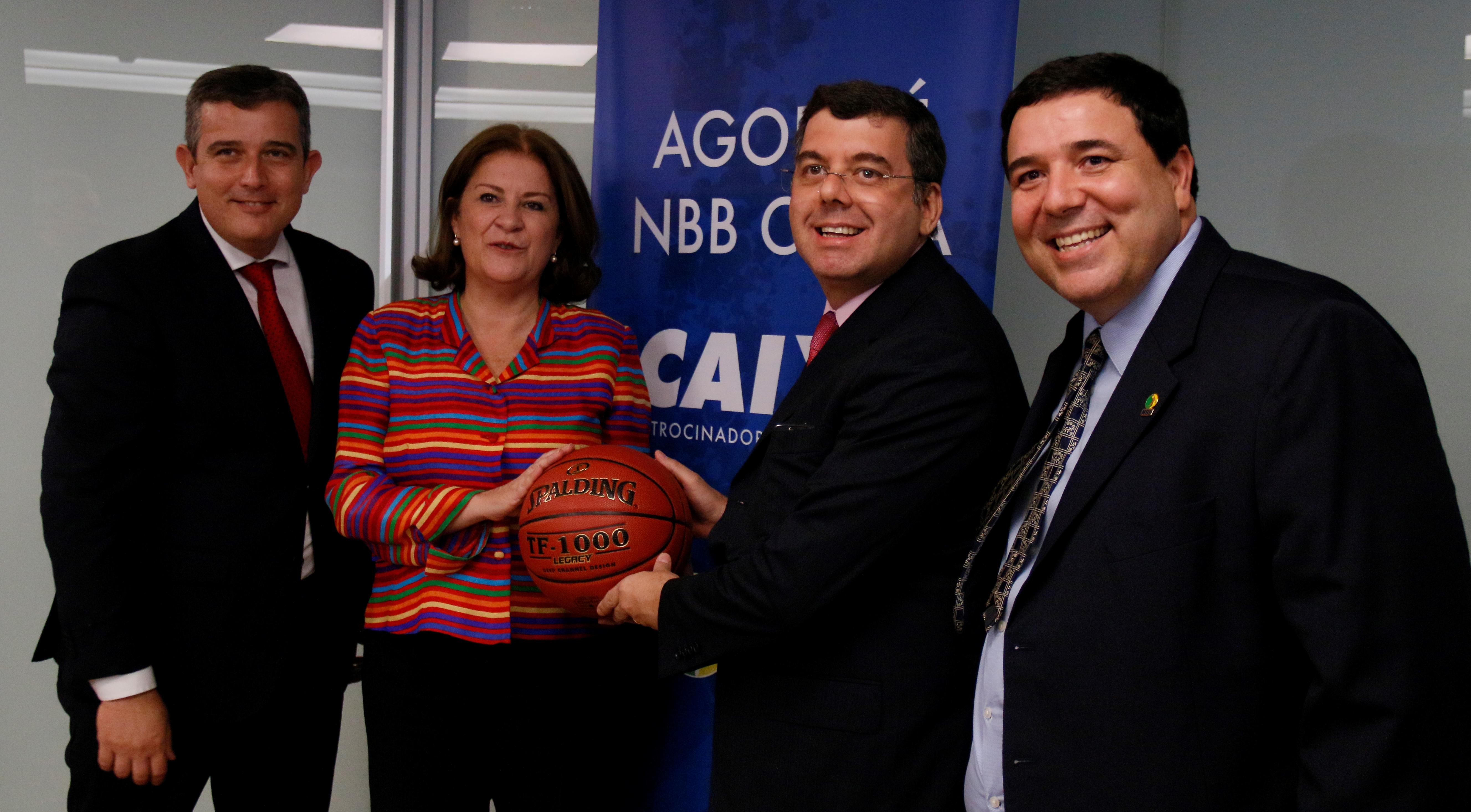 Secretário Nacional de Esporte de Alto Rendimento, Ricardo Leyser esteve presente no evento de assinatura de contrato entre CAIXA e LNB (Alex Tavares/Divulgação)