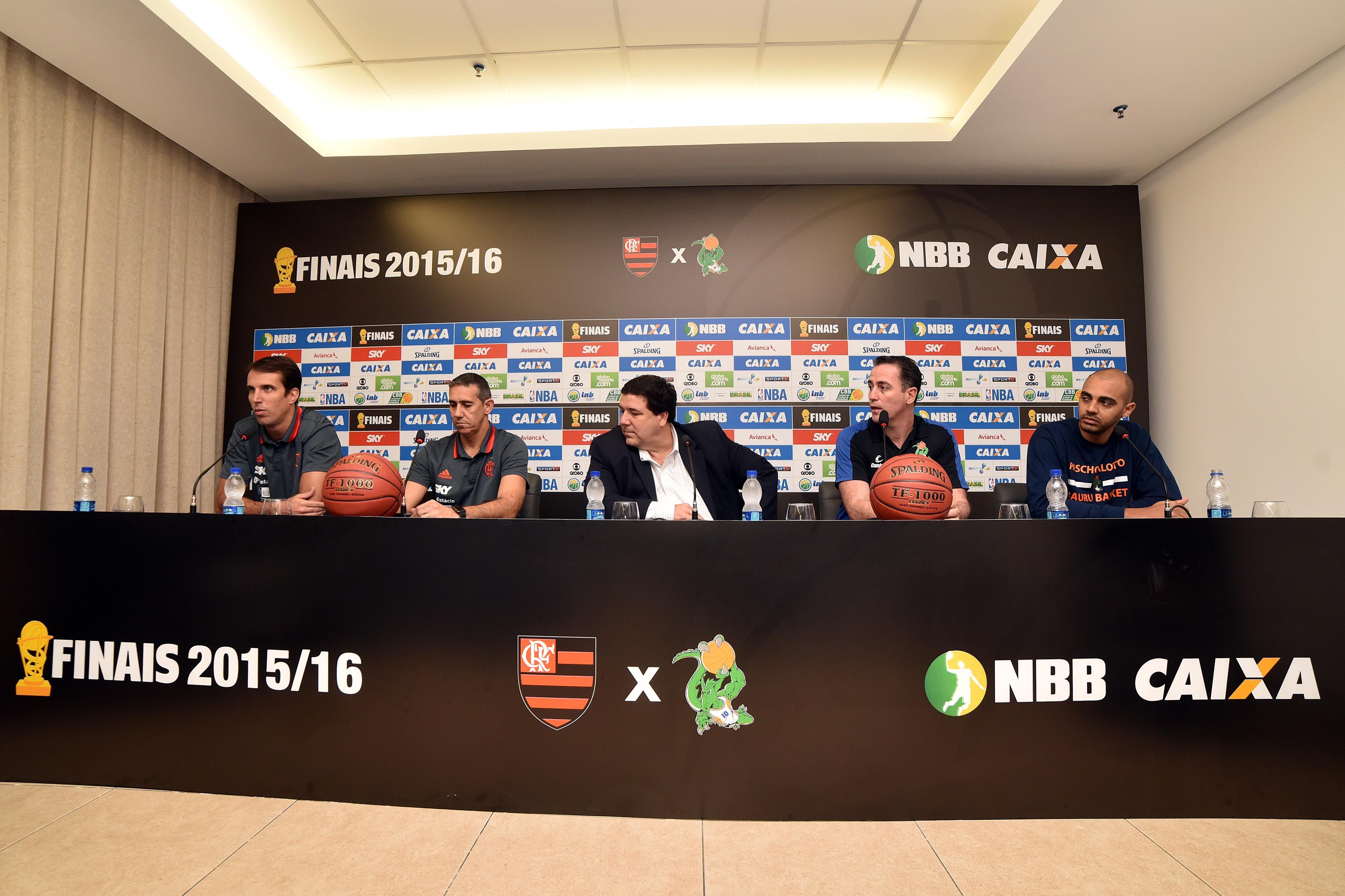 Marcelinho, Neto, João Fernando Rossi, Demétrius e Jefferson