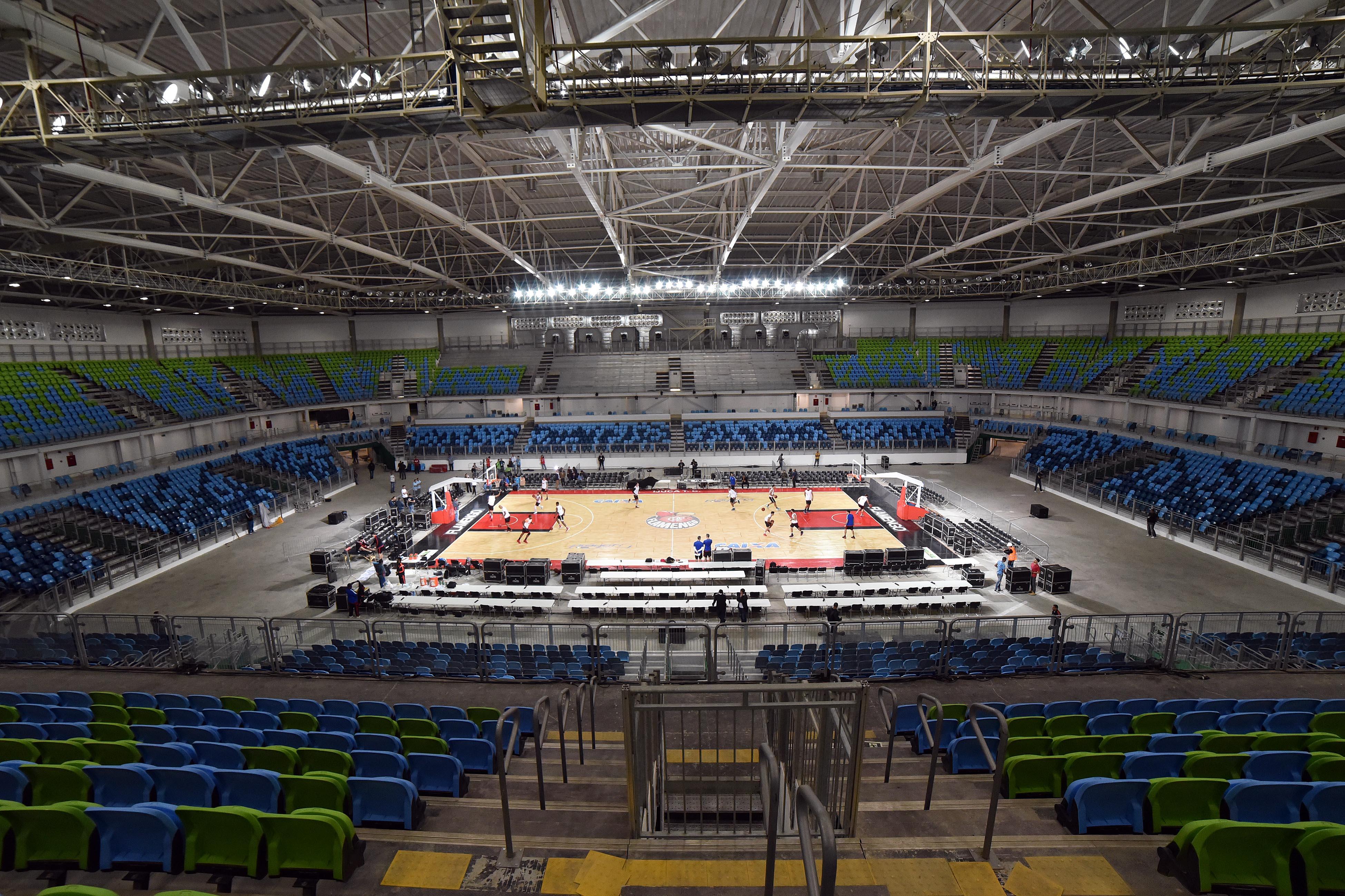 Arena Carioca 2 tem capacidade para 10.000 pessoas e será palco dos combates do judô e luta greco-romana nas Olimpíadas (João Pires/LNB)