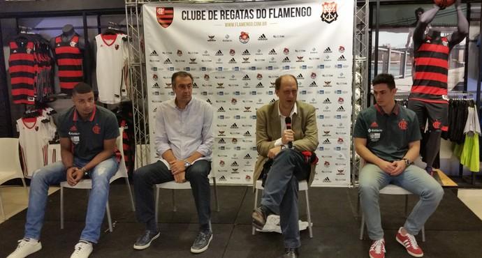 Apresentação de Humberto e Ricardo Fischer no Flamengo