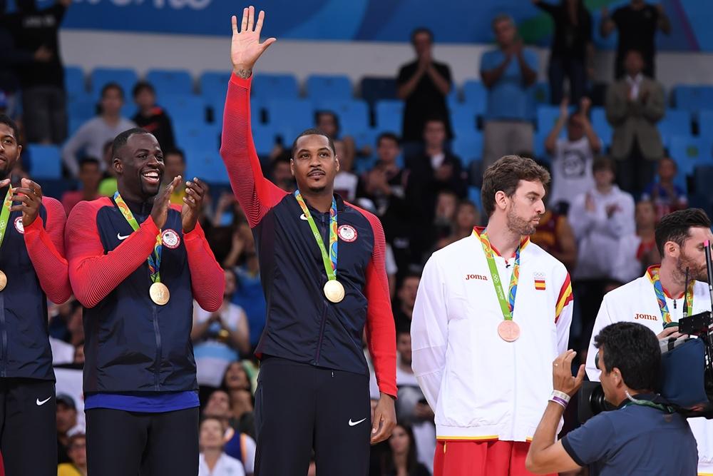 Carmelo Anthony se despede da seleção norte-americana como maior atleta olímpico da história (FIBA/Divulgação)