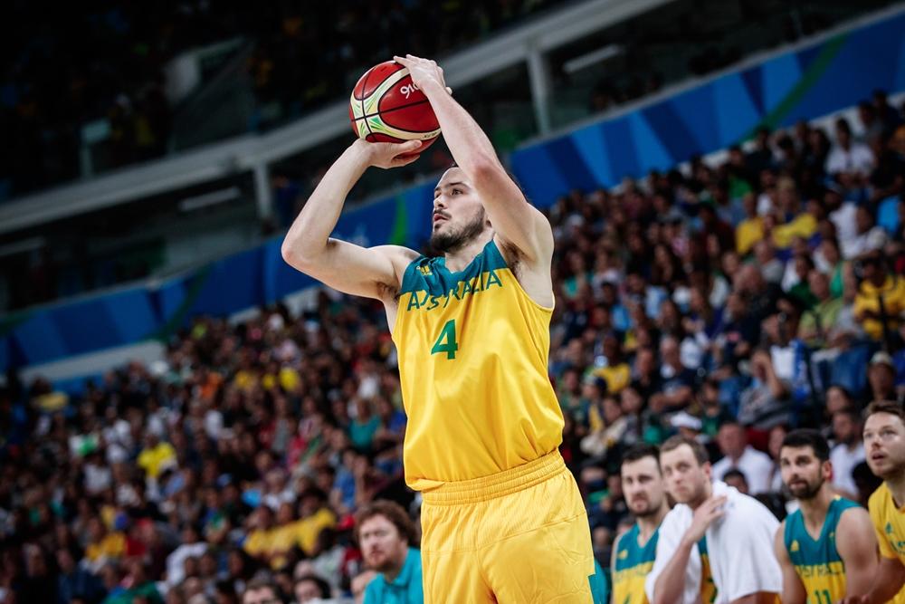 Com a maioria dos titulares preservados, Goulding comandou o ataque australiano neste domingo (FIBA/Divulgação)