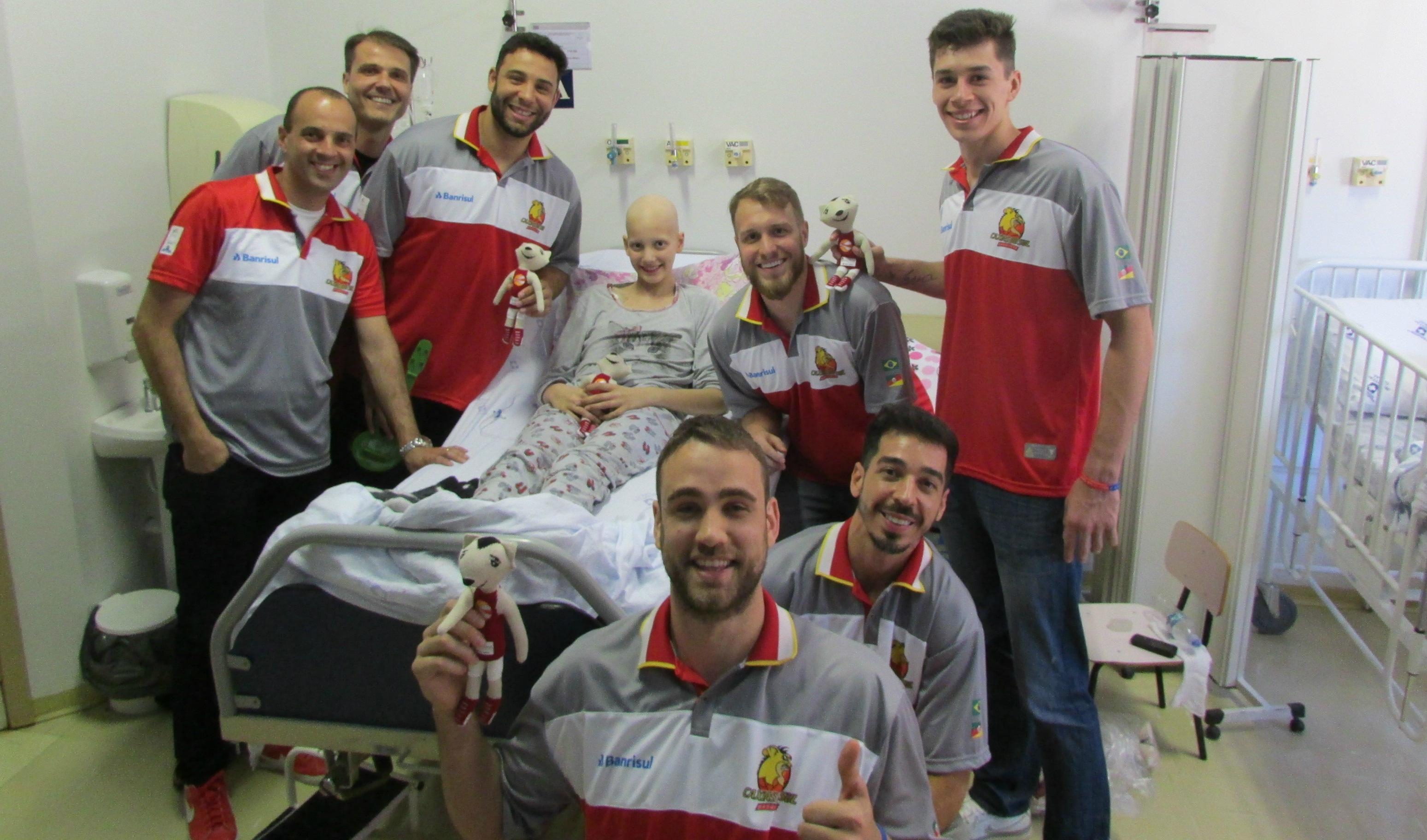 Visita do Caxias ao Hospital Geral